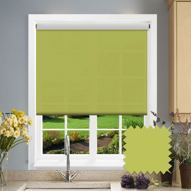 Green Roller Blind - Astral Vine Plain - Just Blinds